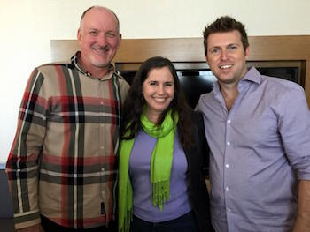 Christina Hills With Reid Tracy and Christian Mickelsen